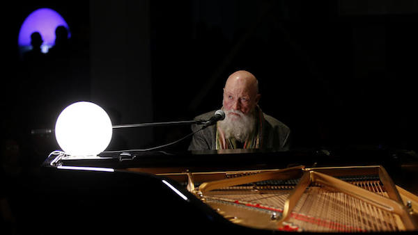 Terry Riley performing at MOCA 2017